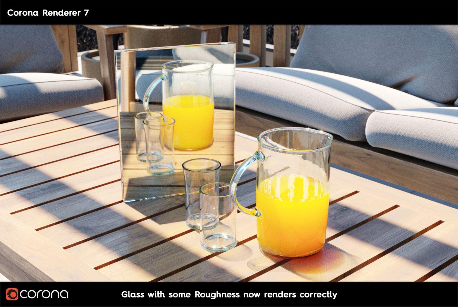 Corona Renderer 7: TUTTE LE NOVITA' - CoronaPhysicalMtl Glass A