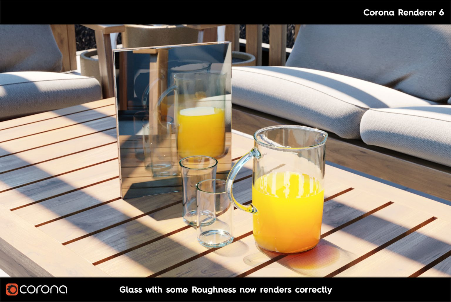Corona Renderer 7: TUTTE LE NOVITA' - CoronaPhysicalMtl Glass B