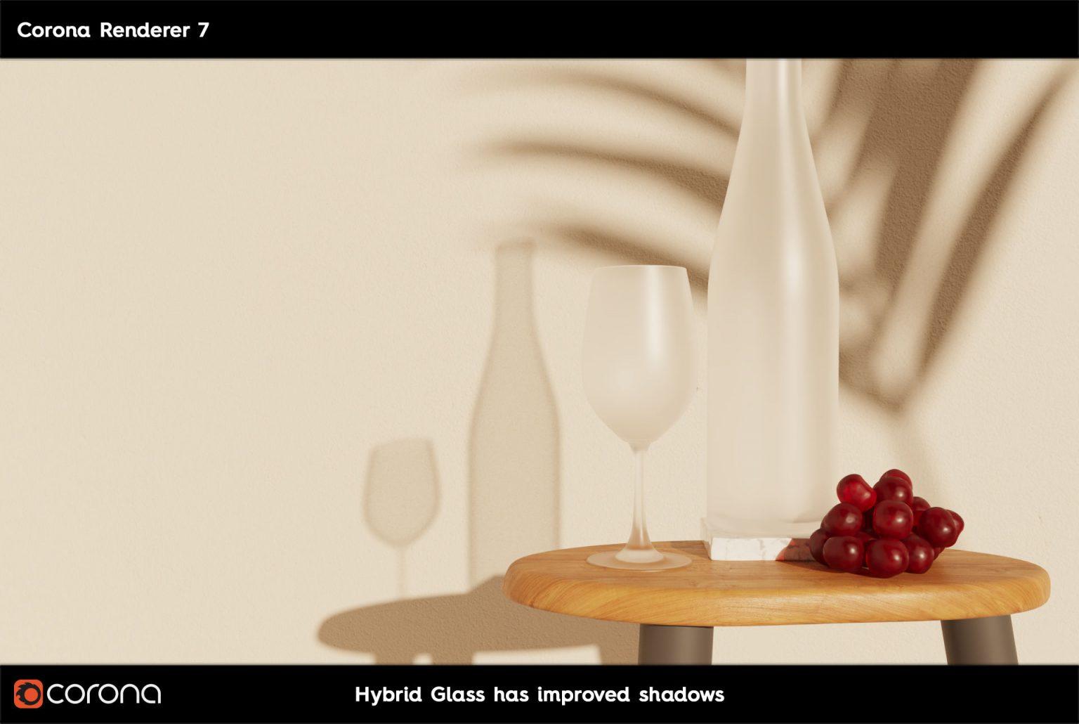 Corona Renderer 7: TUTTE LE NOVITA' - CoronaPhysicalMtl Glass Hibrid Glass A