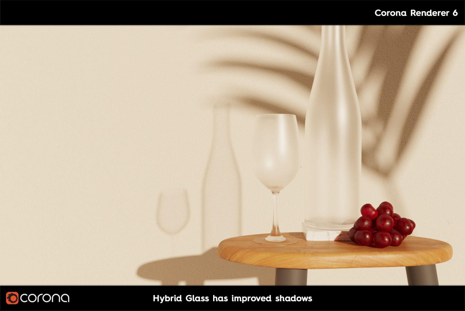 Corona Renderer 7: TUTTE LE NOVITA' - CoronaPhysicalMtl Glass Hibrid Glass B