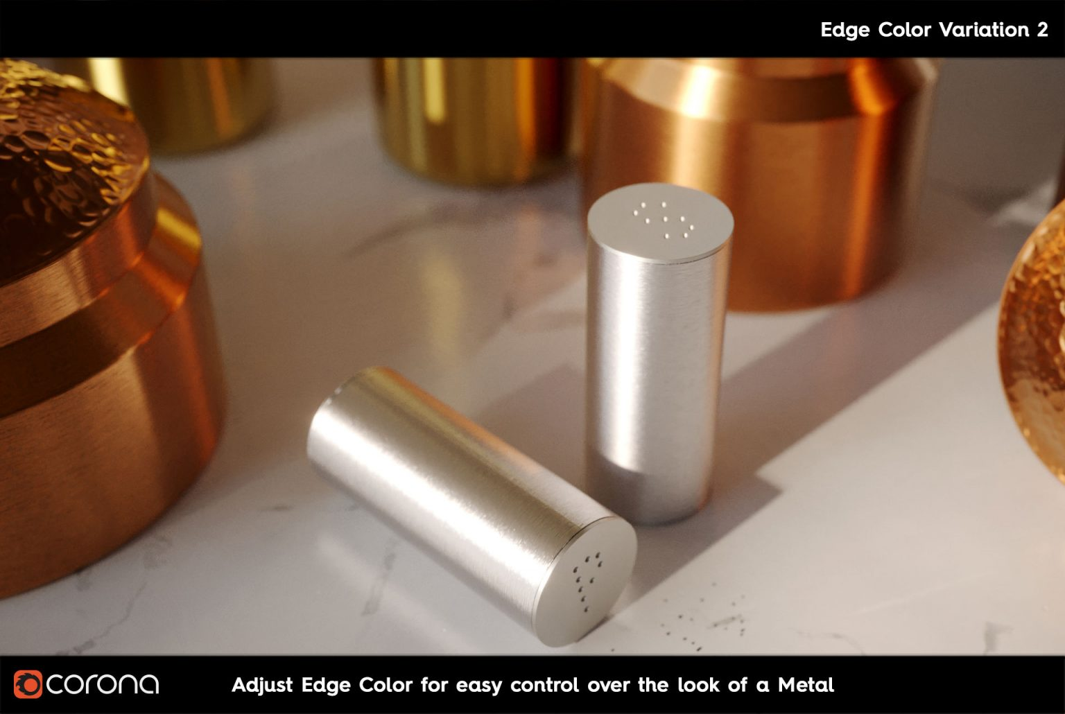 Corona Renderer 7: TUTTE LE NOVITA' - CoronaPhysicalMtl Edge Color B