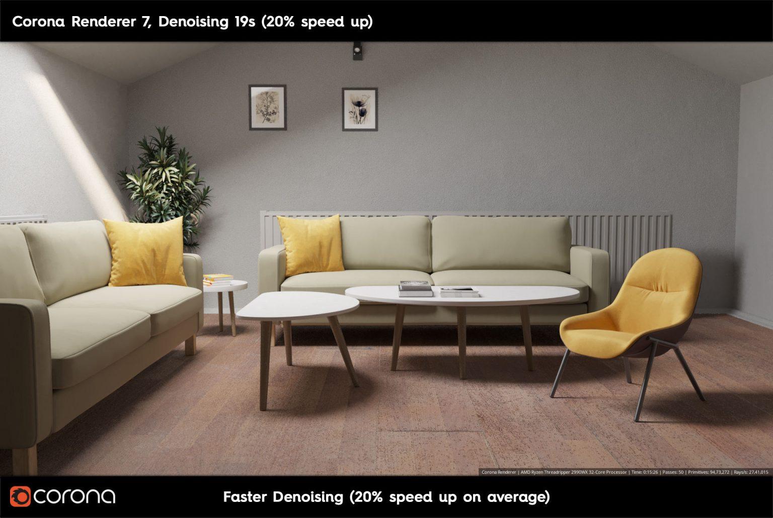 Corona Renderer 7: TUTTE LE NOVITA' - Fast Denoising A