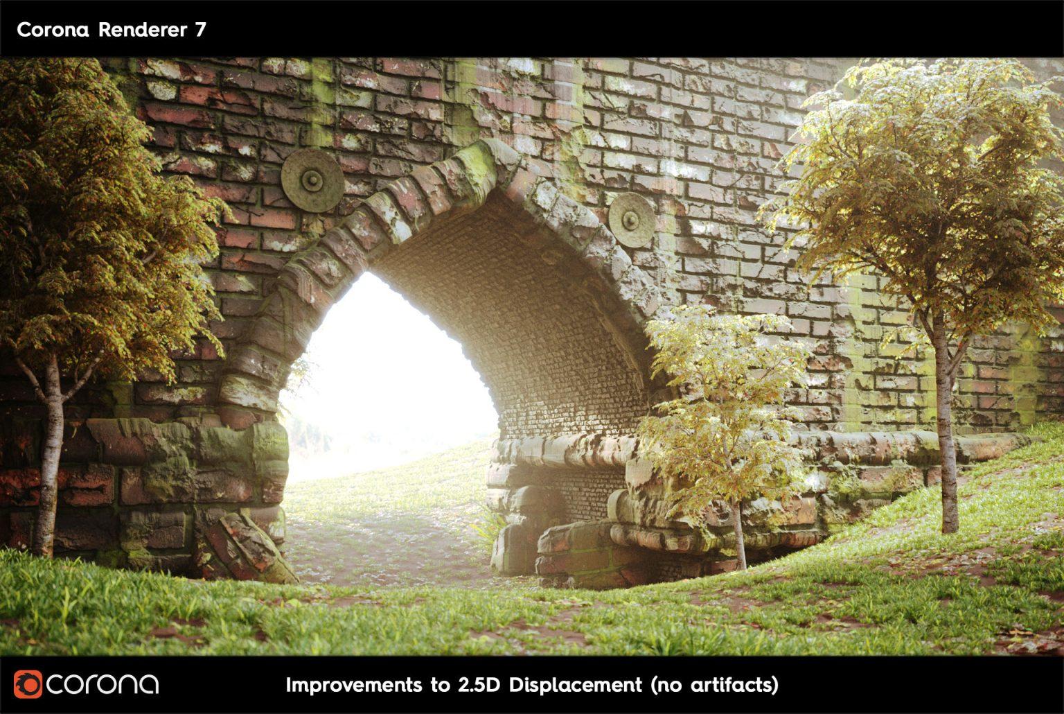 Corona Renderer 7: TUTTE LE NOVITA' - 2.D Displacement arch A