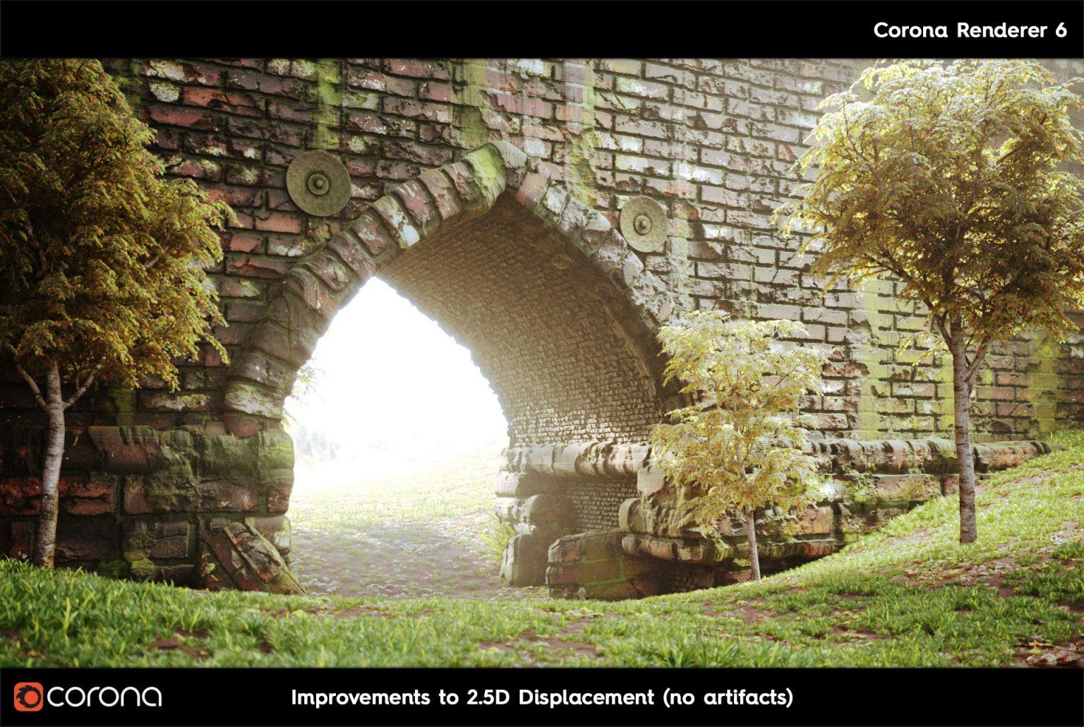 Corona Renderer 7: TUTTE LE NOVITA' - 2.D Displacement arch B