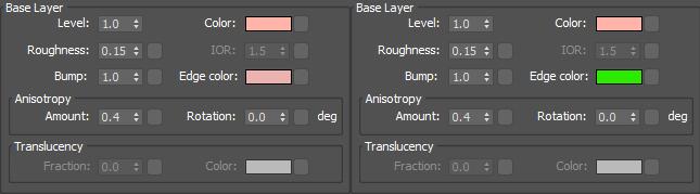 CoronaPhysicalMtl cosa è: Edge color UI